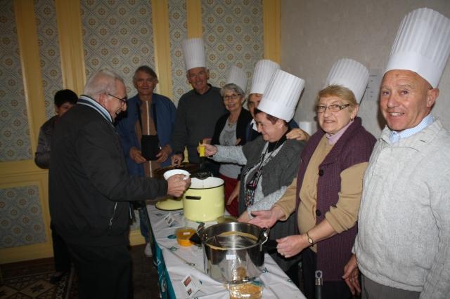 Les membres de l'association « des amis de Saint Germain » serviront les soupes concoctées au profit des charges de fonctionnement du presbytère de Villeneuve-la-Guyard